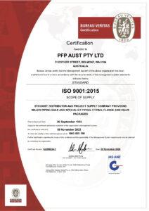 PFP (Aust) ISO Certification